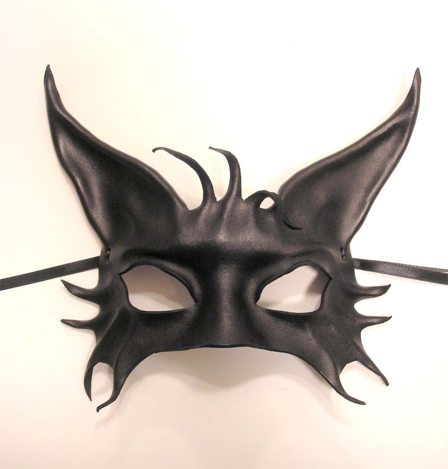 black cat leather mask by teonova artisan crafts costumery costumes ...