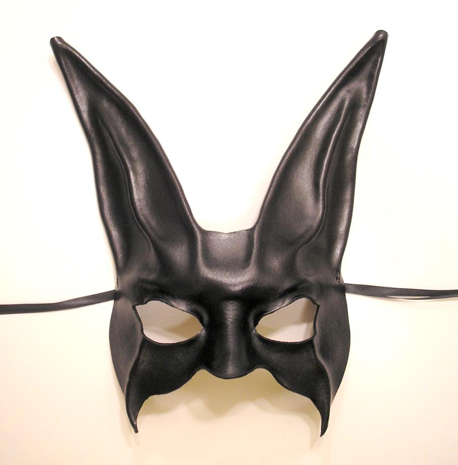 black rabbit leather mask by teonova on deviantart