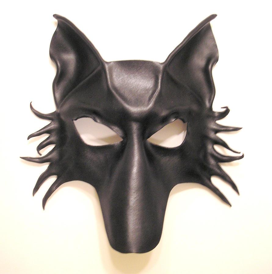 black wolf fox dog leather mask by teonova on deviantart. Black Bedroom Furniture Sets. Home Design Ideas