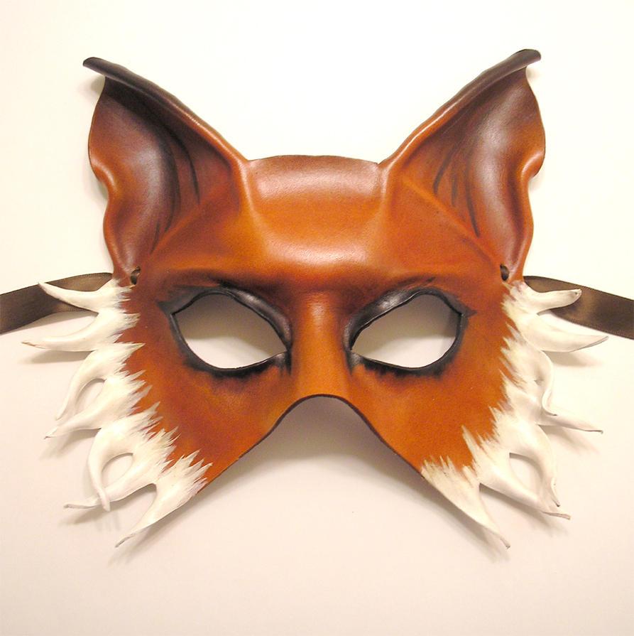 fox leather mask half face version by teonova on deviantart. Black Bedroom Furniture Sets. Home Design Ideas