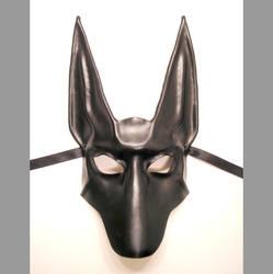 Black Jackal Leather Mask Anubis Egyptian Dog