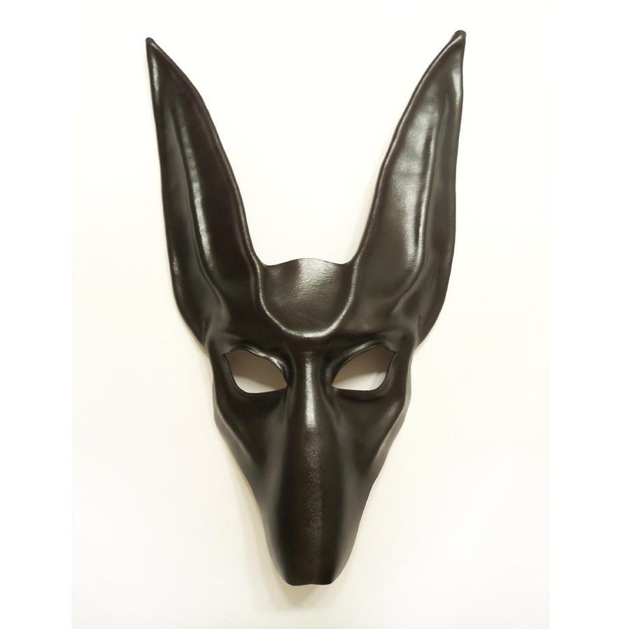 black jackal leather mask anubis egyptian dog by teonova. Black Bedroom Furniture Sets. Home Design Ideas