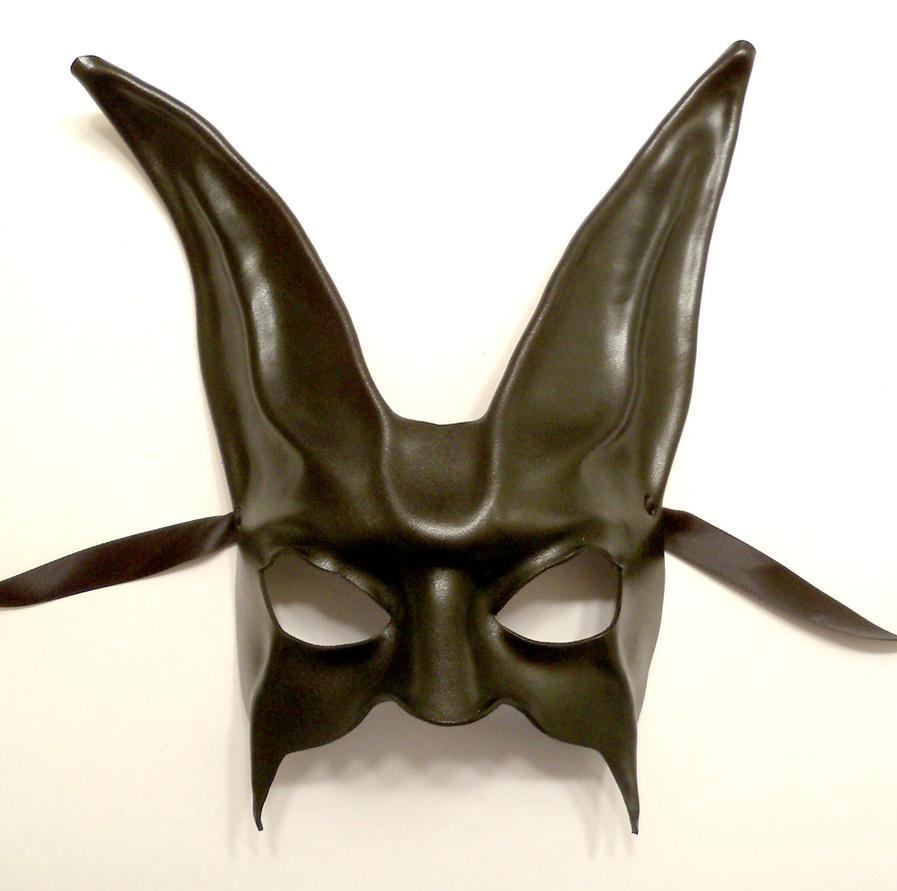 black rabbit leather mask by teonova by teonova on deviantart