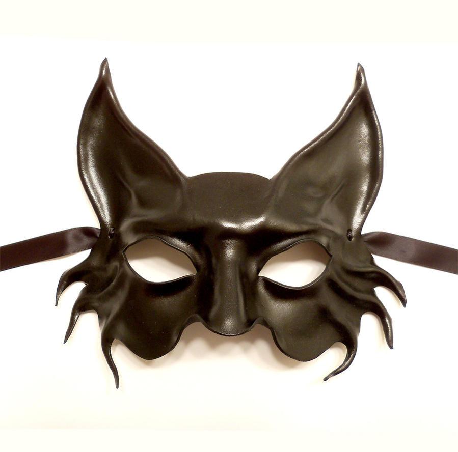 black cat leather mask by teonova on deviantart