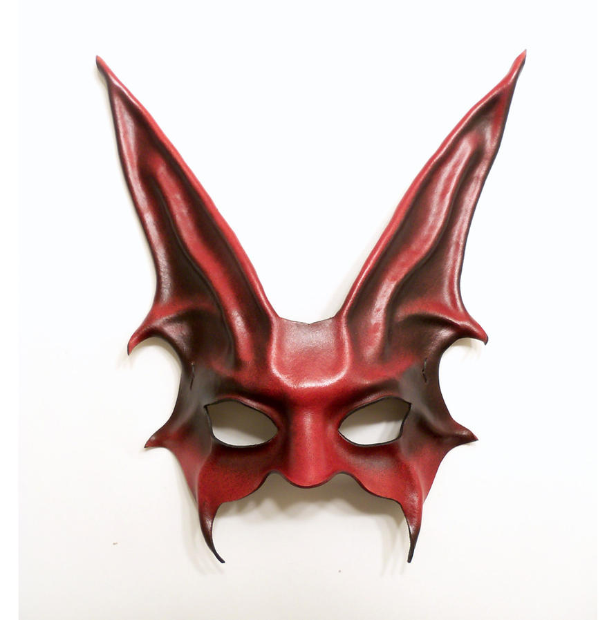 freaky rabbit leather mask in red and black by teonova on deviantart