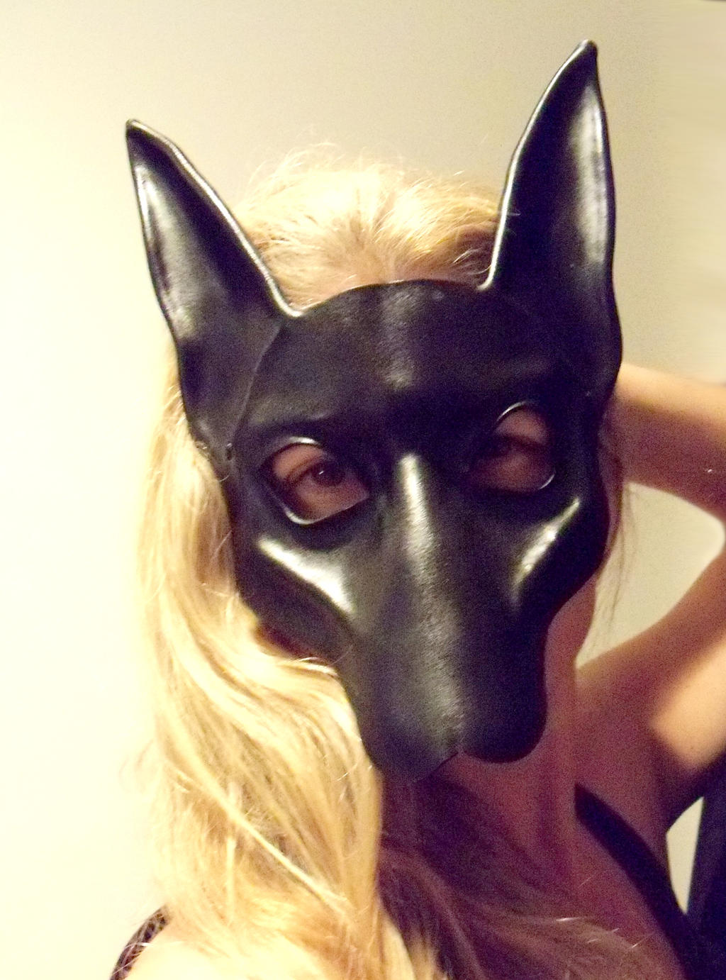 Black Jackal or Pharaoh Hound Leather Mask Anubis by teonova on ...