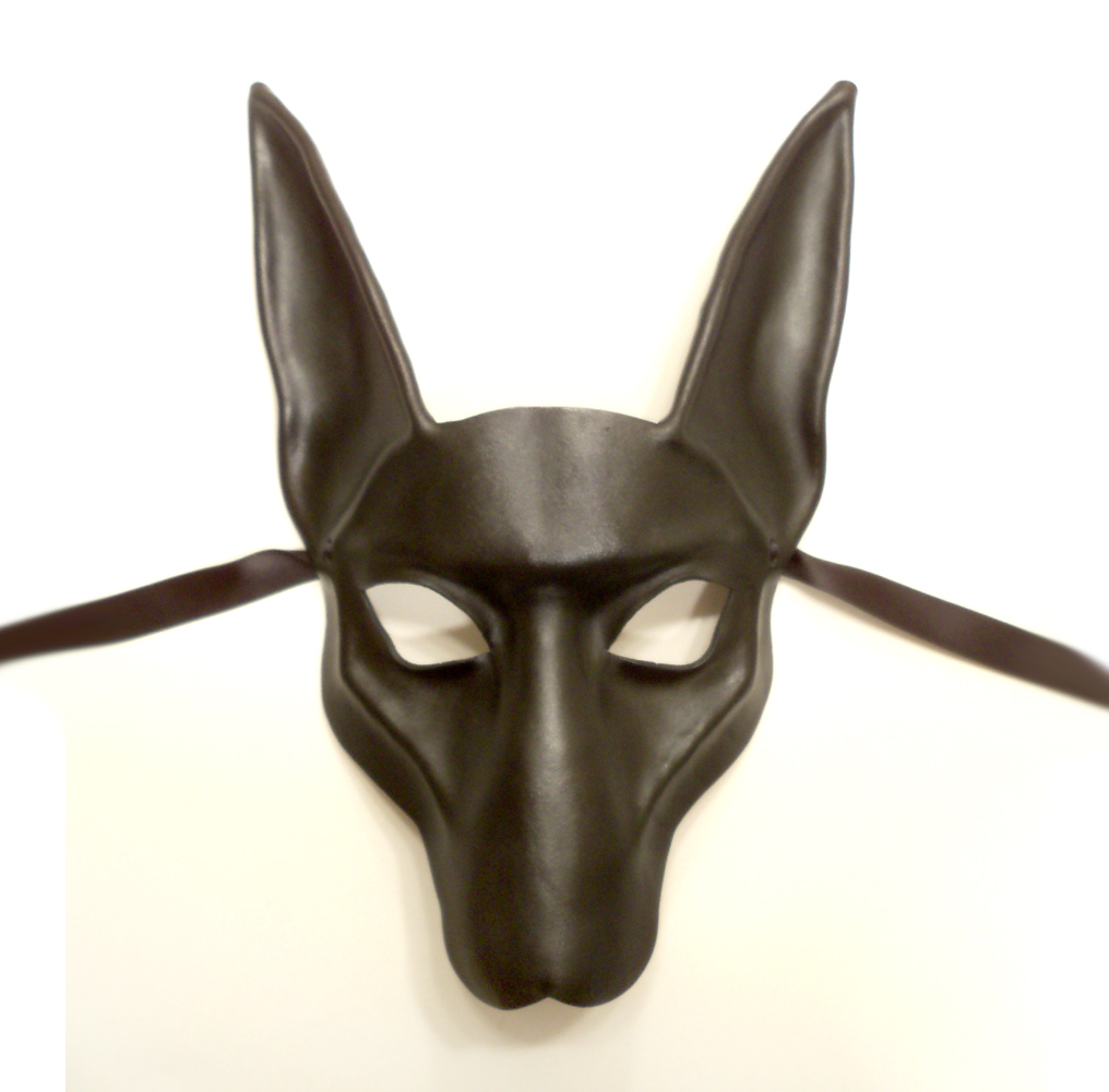 blackjackal pharaoh hound leather mask by teonova on