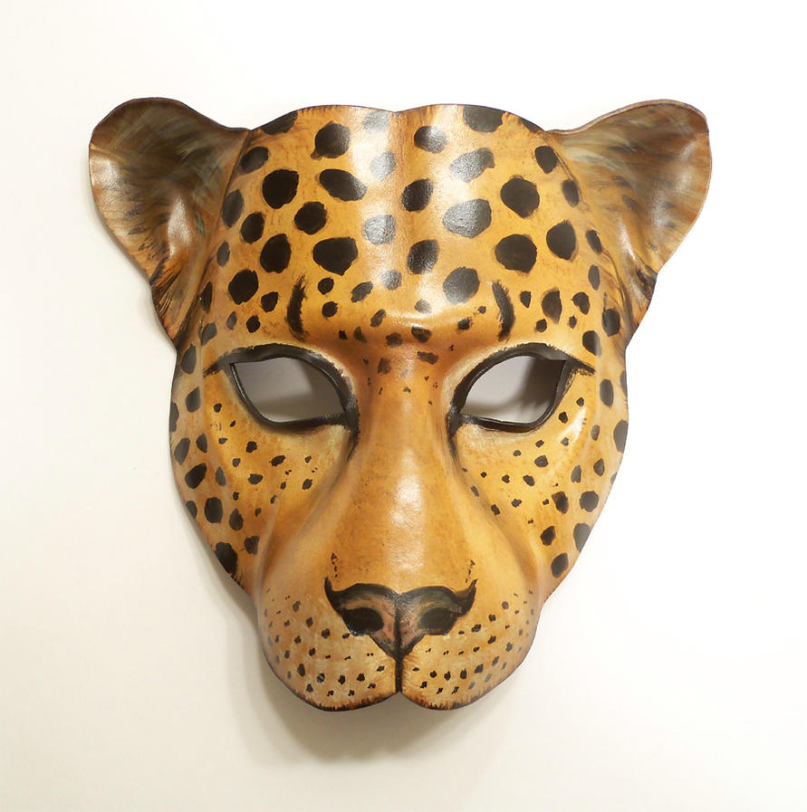 Leopard mask template the image kid has it for Cheetah face mask template