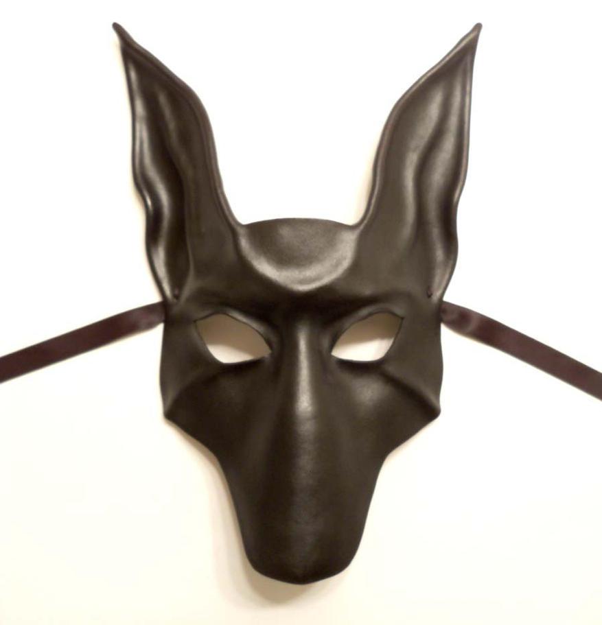 black jackal anubis leather mask by teonova on deviantart. Black Bedroom Furniture Sets. Home Design Ideas