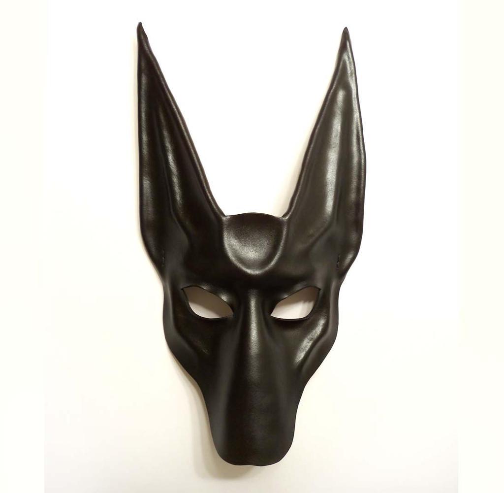 black jackal anubis leather mask full face teonova by. Black Bedroom Furniture Sets. Home Design Ideas
