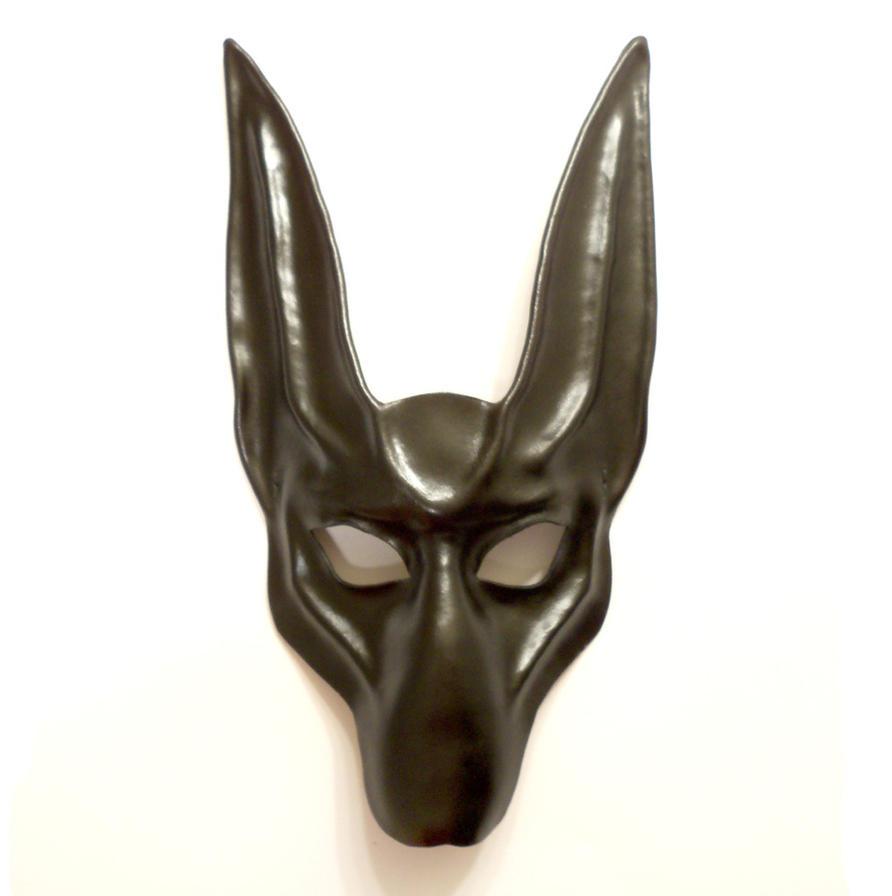 black jackal leather mask anubis egyptian dog by teonova on deviantart