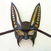 Anubis Leather Mask Egypt Egyptian half face by teonova
