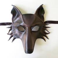 Leather Animal Mask WOLF by Teonova by teonova