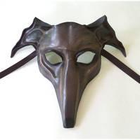 Greyhound Dog Leather Mask Sloughi Whippet Italian by teonova