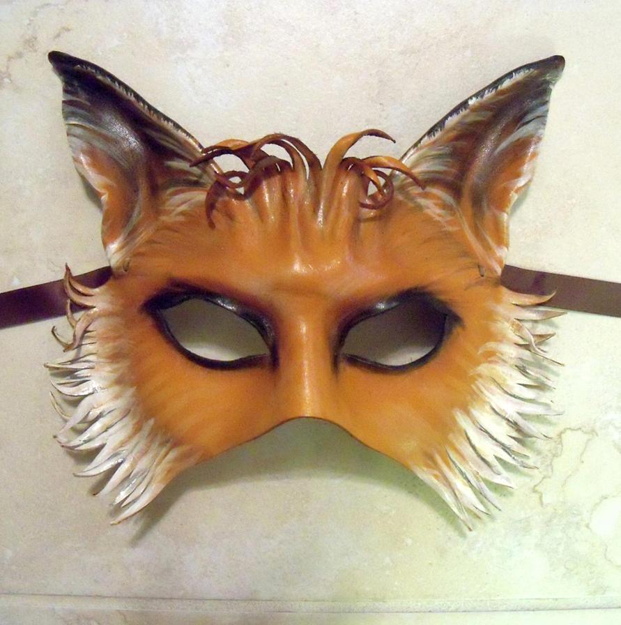 Fox Leather Mask half face by Teonova by teonova