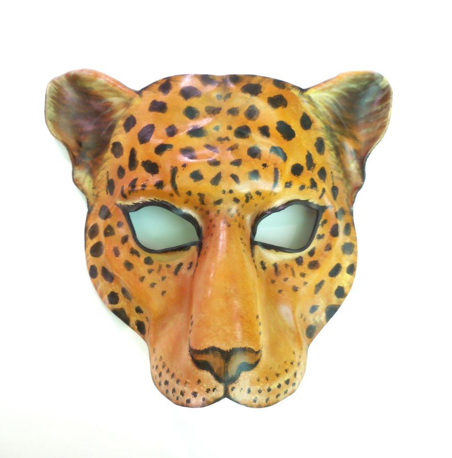 Маска леопард своими руками