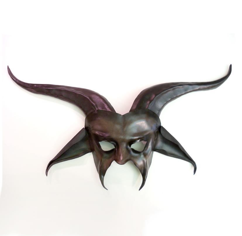 Devil Goat Leather Mask Baphomet Krampus Pan by teonova