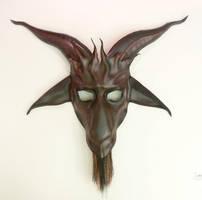 Baphomet Goat Leather Mask by Teonova plum/black by teonova