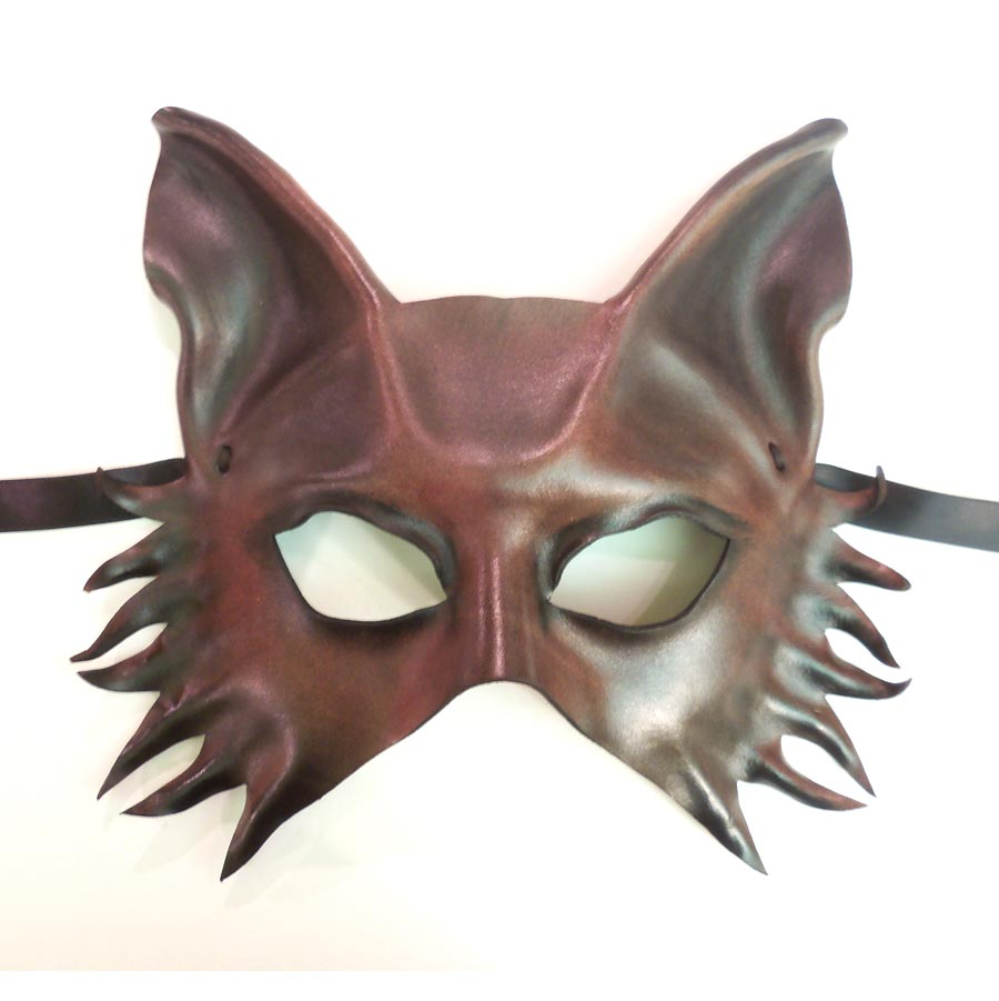 wolf fox dog shepherd leather mask by teonova by teonova on deviantart