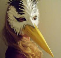 BIRD Leather Mask Heron Inspired by Teonova by teonova