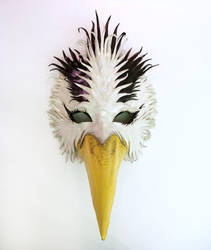 Blue Heron Inspired Bird Leather Mask by Teonova by teonova