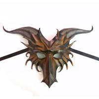 Leather Dragon Mask by Teonova by teonova