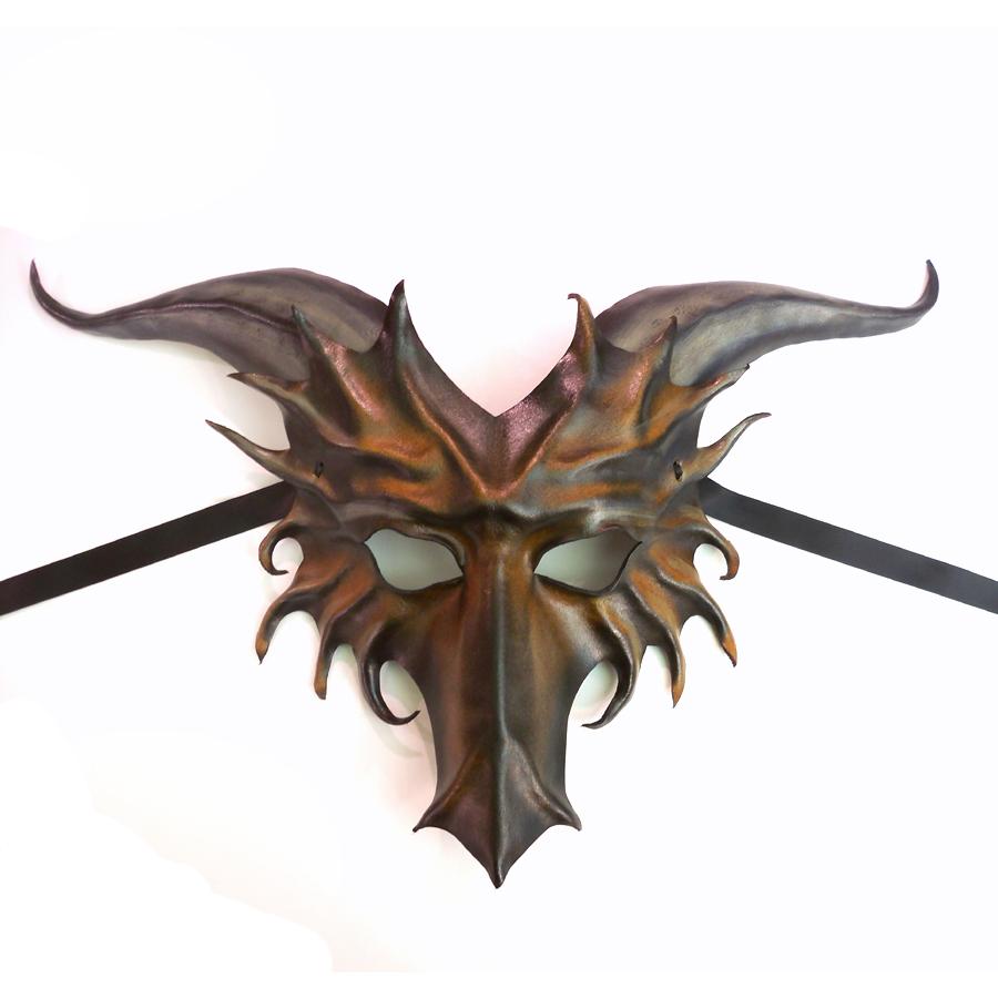 leather dragon mask by teonova by teonova on deviantart