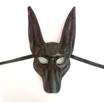 Black Jackal Leather Mask Anubis by Teonova by teonova