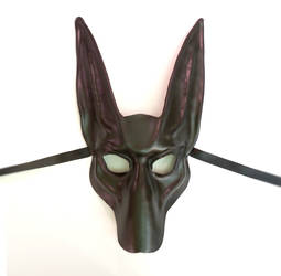 Black Jackal Leather Mask Anubis by Teonova