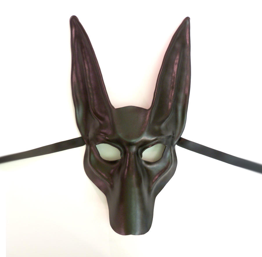 black jackal leather mask anubis by teonova by teonova on
