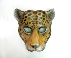 Leopard Leather Mask by Teonova cat wildcat africa by teonova