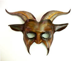 Goat Leather Mask by Teonova brown black tan by teonova