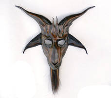 Baphomet Goat Leather Mask by Teonova by teonova