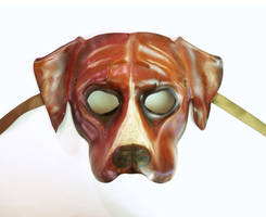 Dog Leather Mask Boxer Mastiff Bulldog Pitbull by teonova
