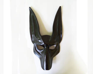 Black Jackal Leather Mask Anubis Egypt dog pharaoh by teonova