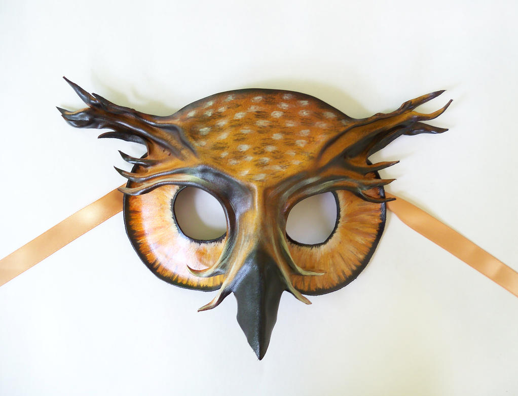 Owl Leather Mask Eagle or Great Horned by teonova