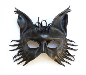 Black Wolf Leather Mask fox dog by teonova