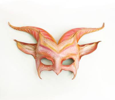 Pink and Glittery Fantays Goat Leather Mask by teonova