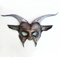 Leather Goat Mask by Teonova by teonova