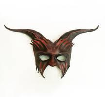 Goat Leather Mask Red And Black Teonova by teonova