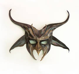 Baphomet Goat Pagan Half Face Leather Mask Teonova by teonova