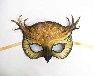 Leather Horned Owl Mask by Teonova by teonova