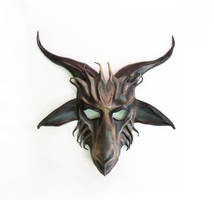 Baphomet Goat Leather Mask by Teonova