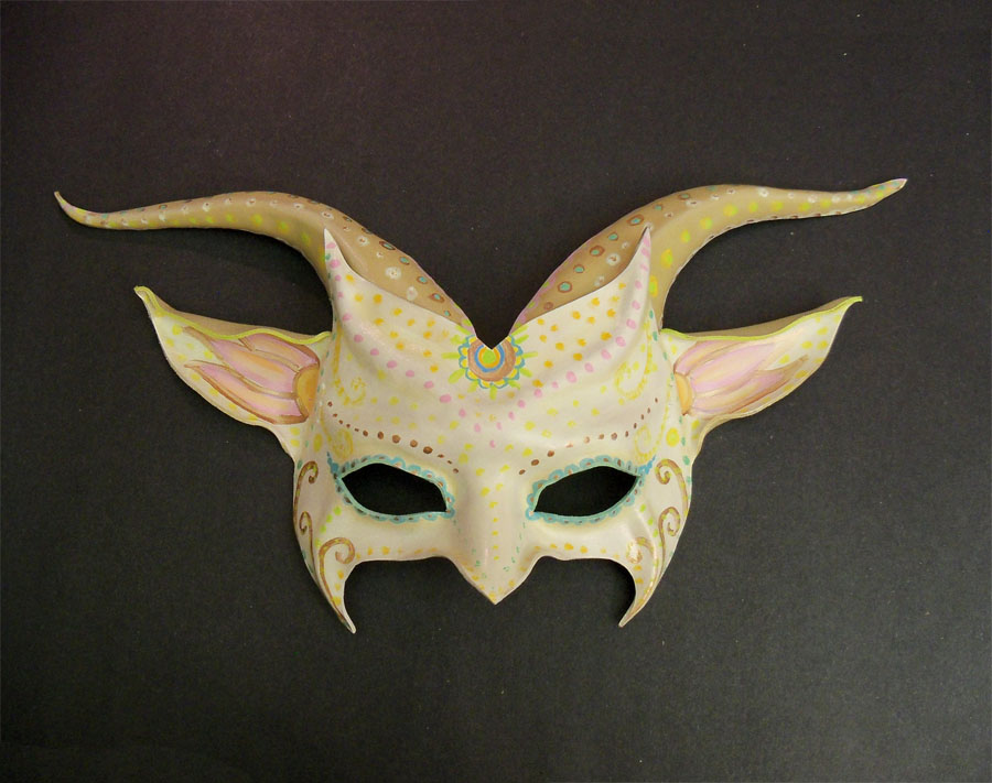 Ivory Decorated Imp Goat Creature Teonova by teonova
