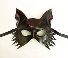 Black Leather mask Wolf Fox Dog by Teonova