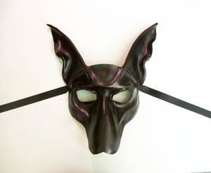 Black Jackal Anubis Leather Mask by Teonova