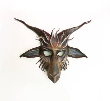 Leather Baphomet Goat  Mask by Teonova by teonova