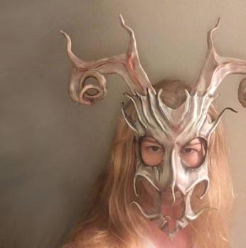 Stag Spirit Leather Mask by Teonova by teonova