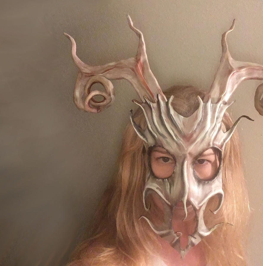Stag Spirit Leather Mask by Teonova by teonova