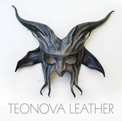 Baphomet Half Face Mask in Leather by Teonova